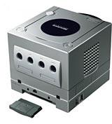 ゲームキューブ本体にゲームボーイプレイヤーを装着した状態